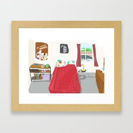 My Sister's Bedroom Framed Art Print