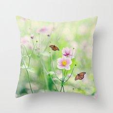 In the garden of bliss Throw Pillow
