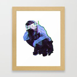 COMFORTABLE - SAD JAPANESE ANIME AESTHETIC Framed Art Print