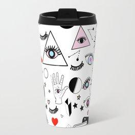 Black Magic - White Travel Mug