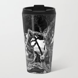 Curvy trees in the park Travel Mug