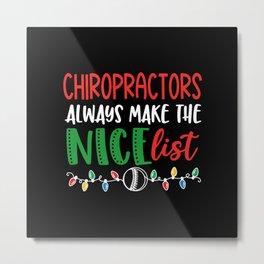 Christmas chiropractor, chiropractic Metal Print