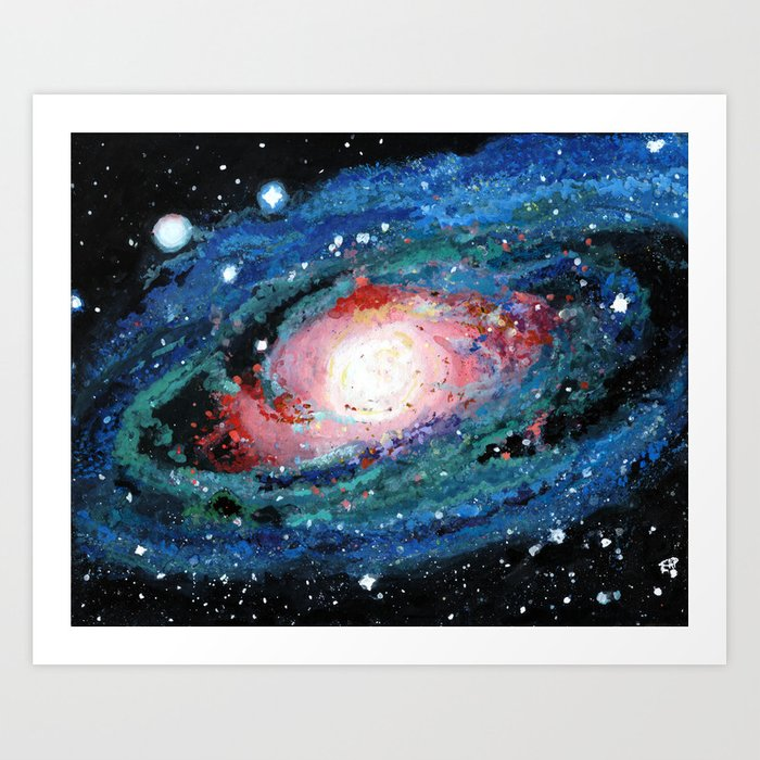 Andromeda Galaxy Painting Art Print By Elissapickle