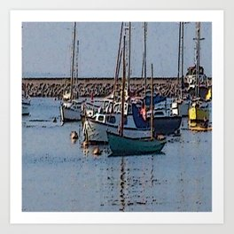 abstract harbour Art Print