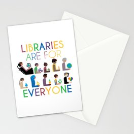 Rainbow Libraries Are For Everyone Stationery Cards