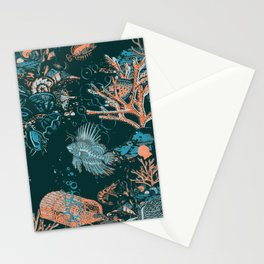 Coral Reef Aquatic Ocean Scene Stationery Cards