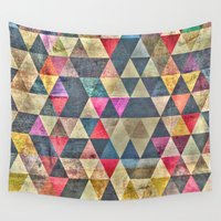 grunge Wall Tapestries featuring Grunge HG by thinschi