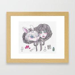 braided hair and heart Framed Art Print