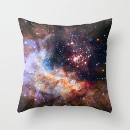 Space Nebula Galaxy Stars | Comforter Throw Pillow