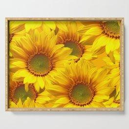 Yellow Mellow Sunflower Bouquet #decor #society6 #buyart Serving Tray