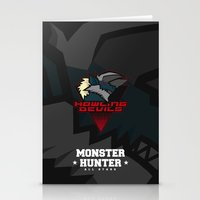 monster hunter Stationery Cards featuring Monster Hunter All Stars - Howling Devils by Bleached ink