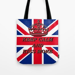 KEEP CALM AND KISS MORE Tote Bag