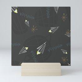 Retro Rockets Mini Art Print
