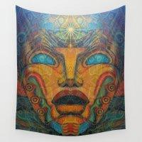 mandie manzano Wall Tapestries featuring Beauty Within by Waelad Akadan