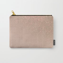 Diagonal Chic Gold Taupe Glitter Gradient Ombre Carry-All Pouch