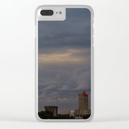 Clouds over Wacotown Clear iPhone Case