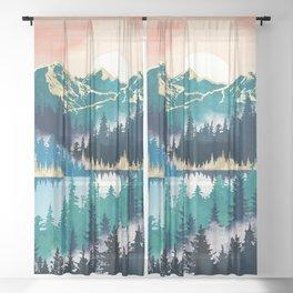Lake Mist Sheer Curtain