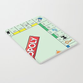 Monopoly Print Currency Game Notebook