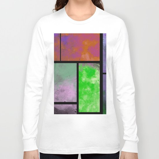 Textured Windows - Modern, abstract, textured painting Long Sleeve T-shirt