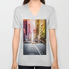 Big Apple Dream in the New York City Downtown Manhattan Unisex V-Neck