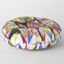 rainbow spiro on blocks Floor Pillow