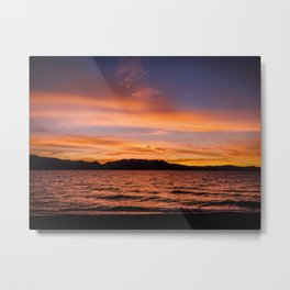 South Lake Tahoe Sunset Metal Print