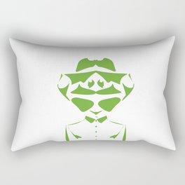 Optical Illusion - double face Rectangular Pillow