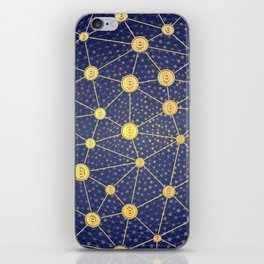 Cryptocurrency mining network iPhone Skin