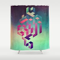 spires Shower Curtains featuring isyhyrtt dyymyndd spyyre by Spires