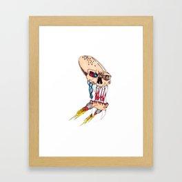 Jet-pack Skull Framed Art Print