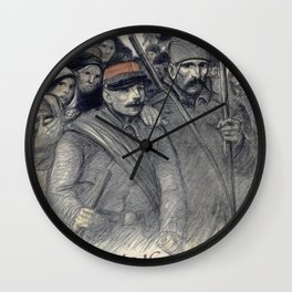 Theophile Alexandre Steinlen - 25 Juin 1916, Journee Serbe - Digital Remastered Edition Wall Clock