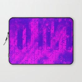 piano keys and music sheet pattern wslp Laptop Sleeve