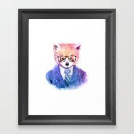 Cute fashion hipster animals pets red panda Framed Art Print