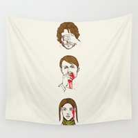 hannibal Wall Tapestries featuring No Evil Hannibal by Huebucket