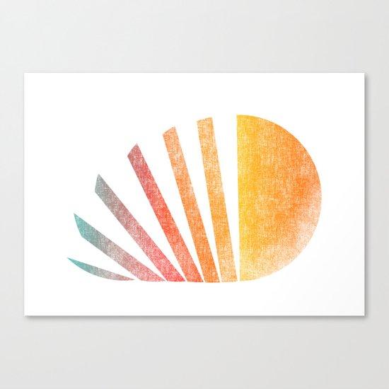 Raising sun (rainbow-ed) Canvas Print