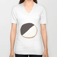 cookie V-neck T-shirts featuring Cookie by Andrew Lynne