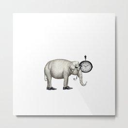 Elefante con gafas, espera. Metal Print