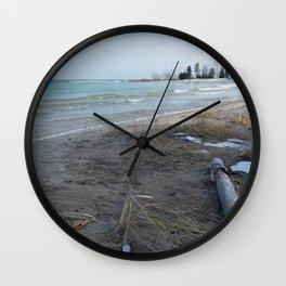 February Beach Day Wall Clock