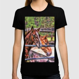 Horses and gate T-shirt