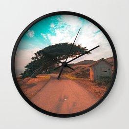 Sunrise Point Reyes Trees Wall Clock