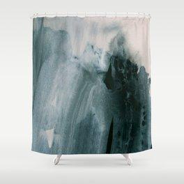 greyish brush strokes Shower Curtain