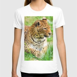 Lounging Leopard T-shirt