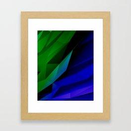 Geo Green and Blue Framed Art Print