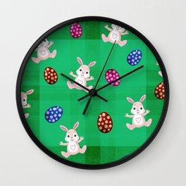 Easter Bunny Pattern ( Version II ) Wall Clock