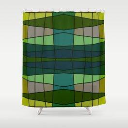 Green Pattern Turtle Shower Curtain