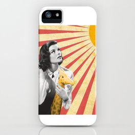 Katherine Hepburn Sun iPhone Case