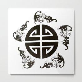Chinese 5 blessings symbol Metal Print