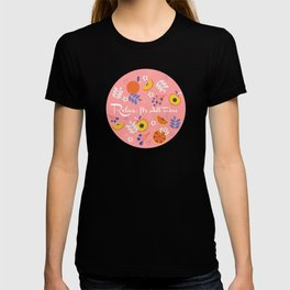 PEACH AND ORANGE PATTERN T-shirt