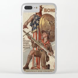 Vintage poster - USA Bonds Clear iPhone Case