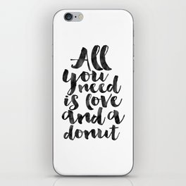 CRAZY CAT LADY, Cat Meow,All You Need Is Love And A Cat,Funny Print,Gift For Her,Women Gift,Cat Quot iPhone Skin